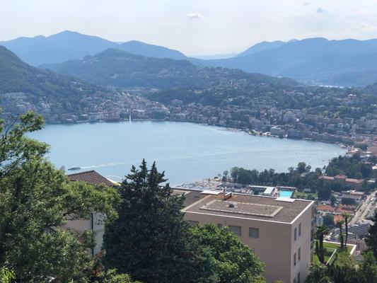 Aldesago vista lago
